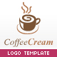 Coffee Cream Logo Template